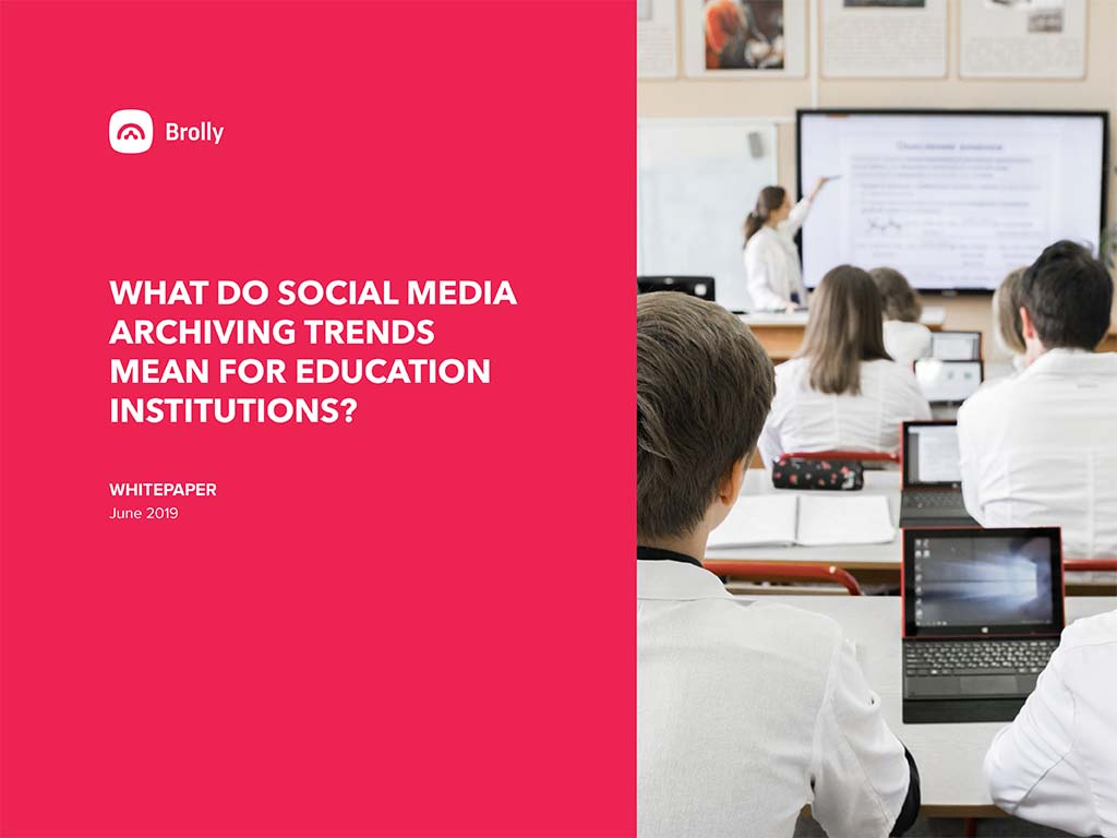 Thumbnail Brolly white paper - social media education sector