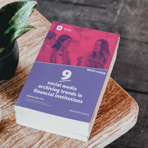 Book cover showing 9 social media trends for financial institutions